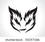 beautiful cat with best used of ... | Shutterstock .eps vector #53257186