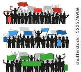 three horizontal flat banners...   Shutterstock .eps vector #532576906
