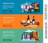 argentina top tourists... | Shutterstock .eps vector #532576915