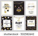 chic party glitter greeting... | Shutterstock .eps vector #532582642