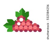 Grapes Icon In Flat Style....