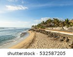 early sunset over the beach in... | Shutterstock . vector #532587205