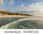 early sunset over the beach in... | Shutterstock . vector #532587232