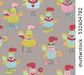seamless pattern with cute... | Shutterstock .eps vector #532604782