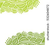 beautiful green nature... | Shutterstock .eps vector #532604872