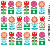 finnish inspired seamless folk... | Shutterstock .eps vector #532608532