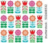 finnish inspired seamless folk...   Shutterstock .eps vector #532608532