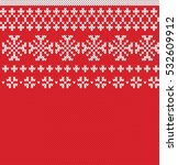 winter holiday seamless knitted ... | Shutterstock .eps vector #532609912