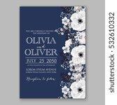 wedding invitation floral... | Shutterstock .eps vector #532610332