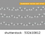 christmas lights isolated... | Shutterstock .eps vector #532610812