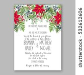 christmas party invitation with ... | Shutterstock .eps vector #532612606