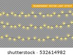 christmas lights isolated... | Shutterstock .eps vector #532614982