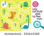 funny maze for children. help... | Shutterstock .eps vector #532615285