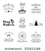 christmas set   labels  emblems ... | Shutterstock .eps vector #532621186