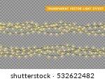 christmas lights isolated... | Shutterstock .eps vector #532622482