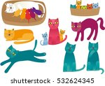 Stock vector cats 532624345