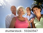 group of smiling senior men and ... | Shutterstock . vector #53263567