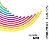 colored arrows vector | Shutterstock .eps vector #53264092