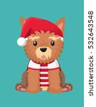 dog breed yorkshire terrier.... | Shutterstock .eps vector #532643548