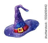 cute  colorful watercolor witch ... | Shutterstock . vector #532650442