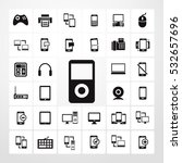 music player icon. vector set...