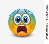 scared emoticon  emoji  smiley  ... | Shutterstock .eps vector #532659802