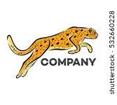 jumping cheetah logo   Shutterstock .eps vector #532660228