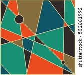 abstract geometric mid century... | Shutterstock .eps vector #532661992