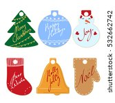 collection of colored christmas ... | Shutterstock . vector #532662742
