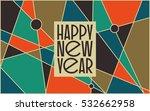 abstract vintage mid century... | Shutterstock .eps vector #532662958