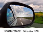 traveling  rear view mirror... | Shutterstock . vector #532667728