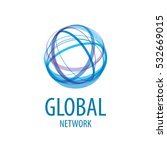 vector logo global network | Shutterstock .eps vector #532669015