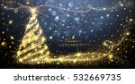 christmas card with magic tree... | Shutterstock .eps vector #532669735