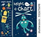 kids height chart. vector... | Shutterstock .eps vector #532670698