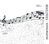 vector music  background ... | Shutterstock .eps vector #532672438