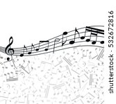 music  background  melody ... | Shutterstock . vector #532672816