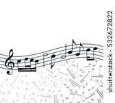 music  background  melody ... | Shutterstock . vector #532672822