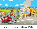 cartoon stage with truck for... | Shutterstock . vector #532674682