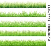 green grass big set  ... | Shutterstock . vector #532674955