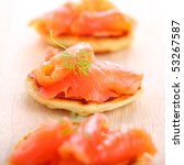 Delicious Appetizer With Salmo...