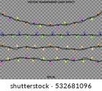 vector garlands. christmas... | Shutterstock .eps vector #532681096