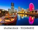 Cityscape Of Yokohama City At...