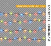 christmas lights isolated... | Shutterstock .eps vector #532687006