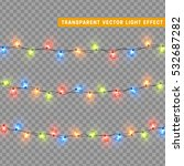 christmas lights isolated... | Shutterstock .eps vector #532687282