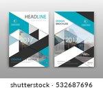 abstract binder art. white a4... | Shutterstock .eps vector #532687696