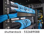 ethernet cables and path panel... | Shutterstock . vector #532689088