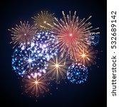 vector holiday firework | Shutterstock .eps vector #532689142
