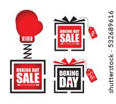set of boxing day sale symbol...   Shutterstock .eps vector #532689616