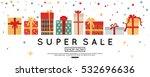 christmas sale banner template... | Shutterstock .eps vector #532696636