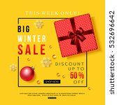 vector winter sale banner with... | Shutterstock .eps vector #532696642